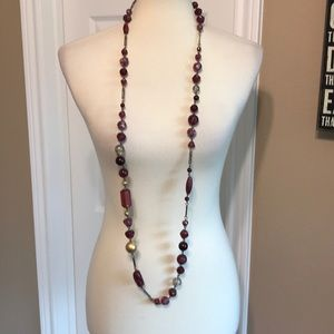 Express long beaded necklace 💜